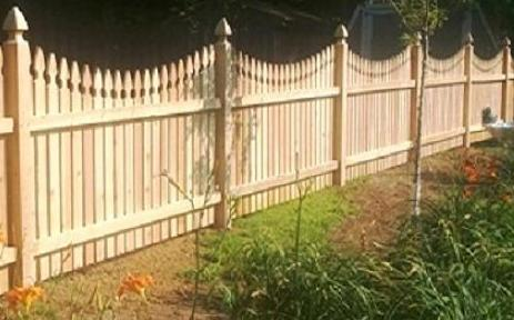 Scalloped French Gothic Picket Fence